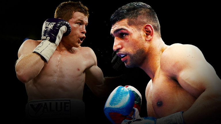 Canelo Alvarez takes on two-time former world champion Amir 'King' Khan May 7, 2016, in Las Vegas.