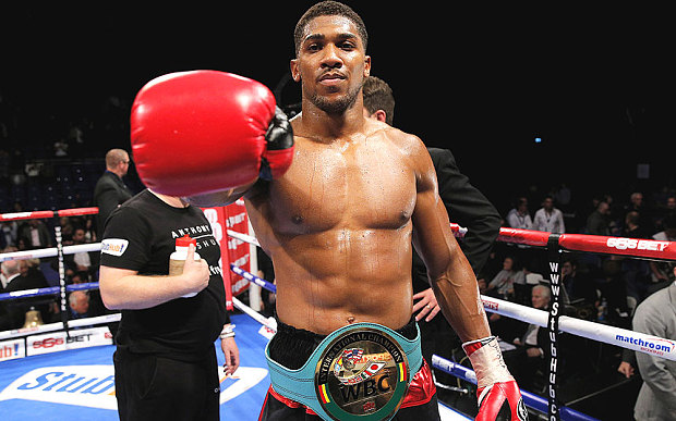 ANthony Joshua could have a date with Charles martin in April. Photo credit:Action images
