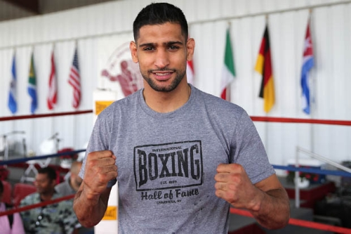 Amir Khan gets set to take on Canelo Alvarez May 7 on HBO. Photo Credit: Getty Images