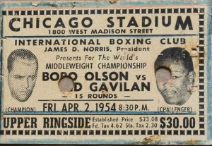 Kid gavilan vs. bobo olson