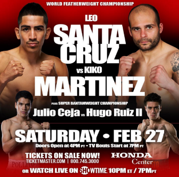 Leo Santa Cruz vs, Kiko Martinez