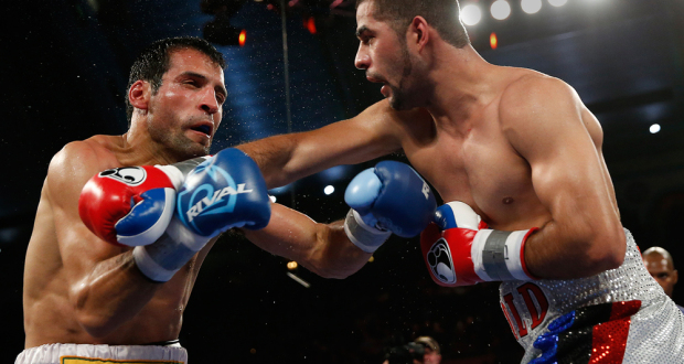 Sadam Ali looked impressive in his fist big test against Luis Carlos Abregu. Photo  Credit: Will Hart - HBO