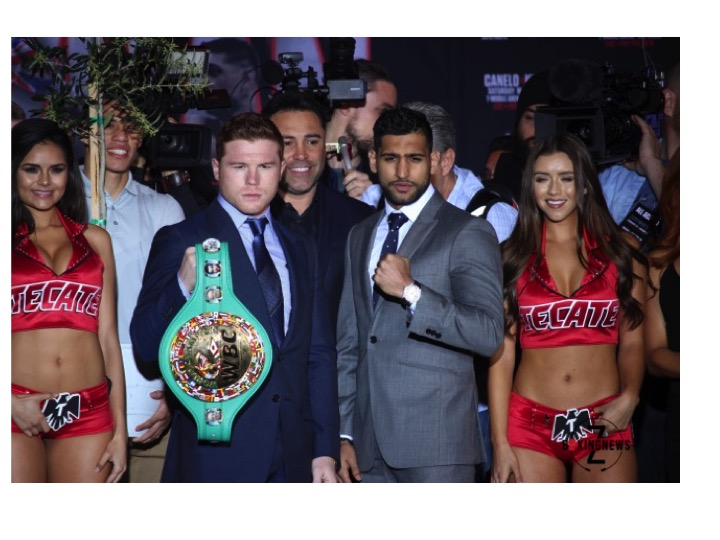 Canelo Alvarez and Amir Khan will headline the May 7 PPV event.   Photo: Harvey Feliciano/Z-BoxingNews-FrontProofMedia.com