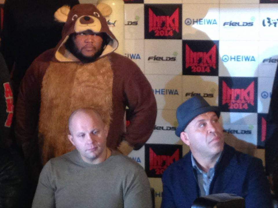 "Barnett in full ""Huggy Bear"". Photo: Rizin FF"