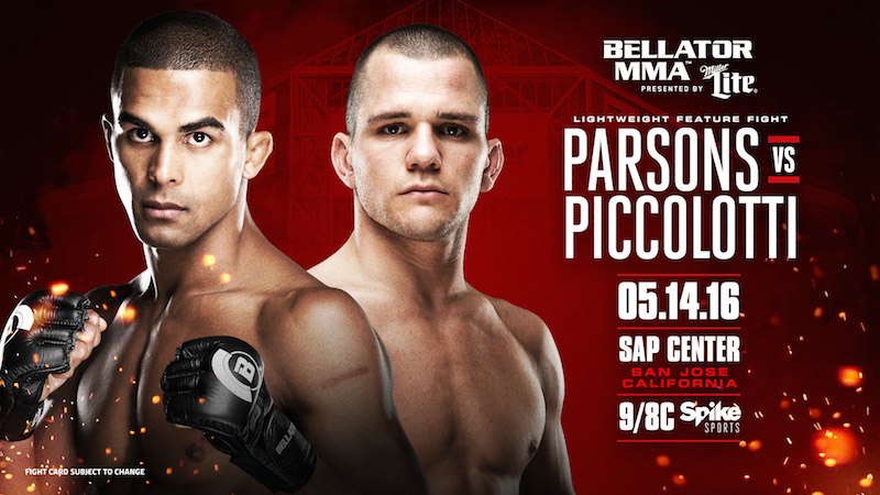 Parsons pictured left. Photo: Bellator MMA