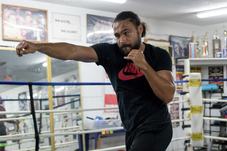 Keith Thurman in preparation for his June 25 showdown against Shawn Porter. Photo Credit: Ryan Hafey / Premier Boxing Champions
