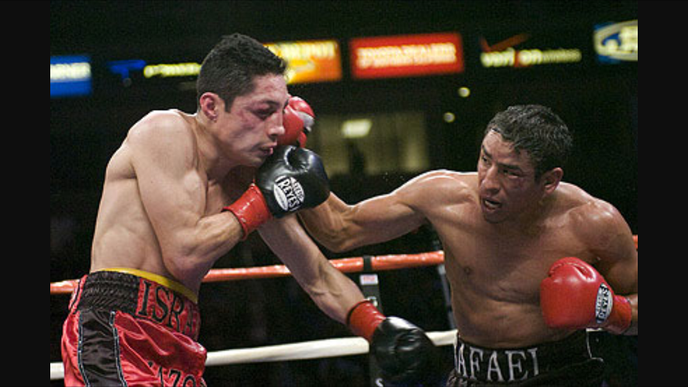 Rafael Marquez vs. Israel Vasquez III. The fight took place in March 2008. Photo: Chris Cozzone/Fight Wire Images