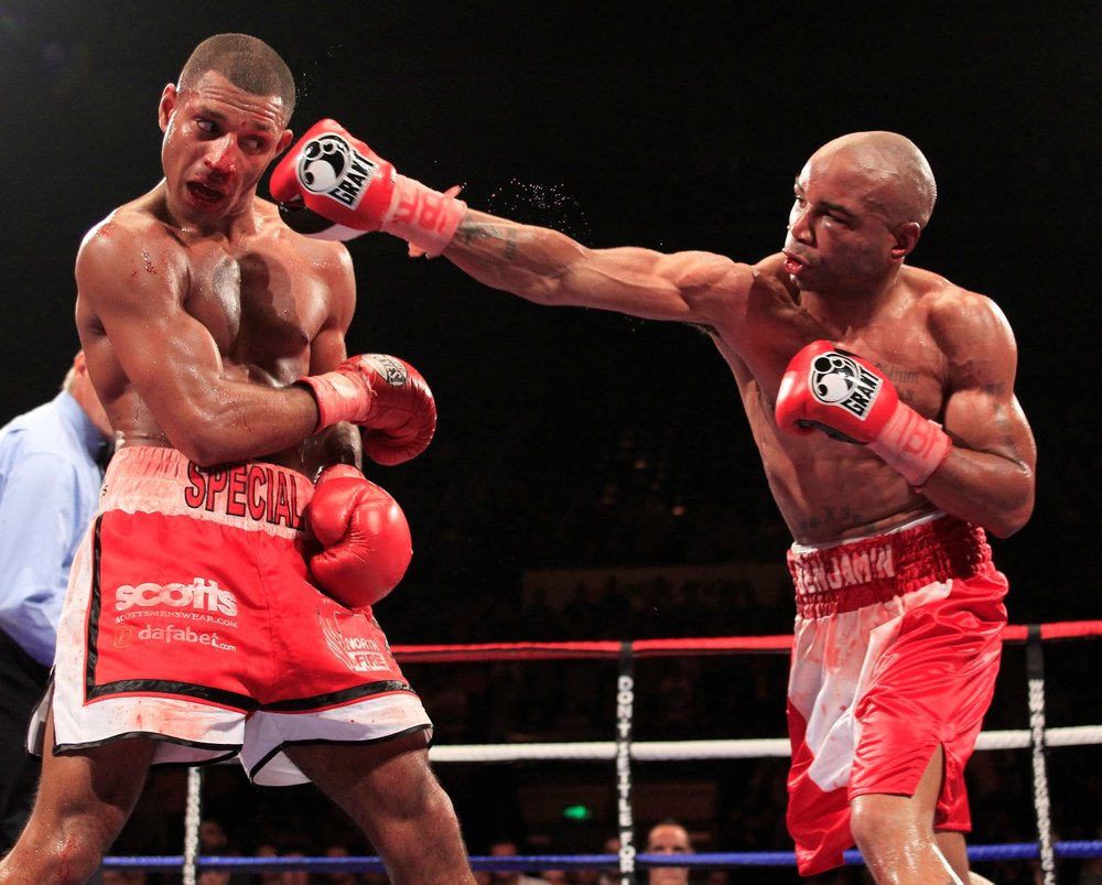 Kell Brook faced a tough test in Carson Jones. Photo: Lawrence Lustig