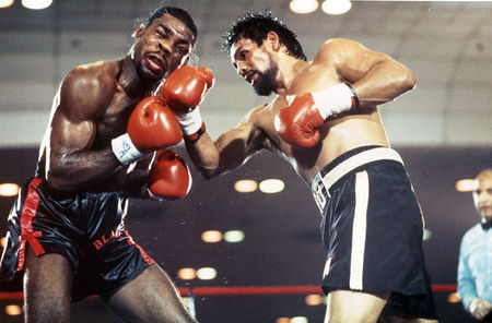 Roberto Duran vs. Iran Barkley. 1989 Fight of the Year. Photo: The Ring Magazine/Getty Images