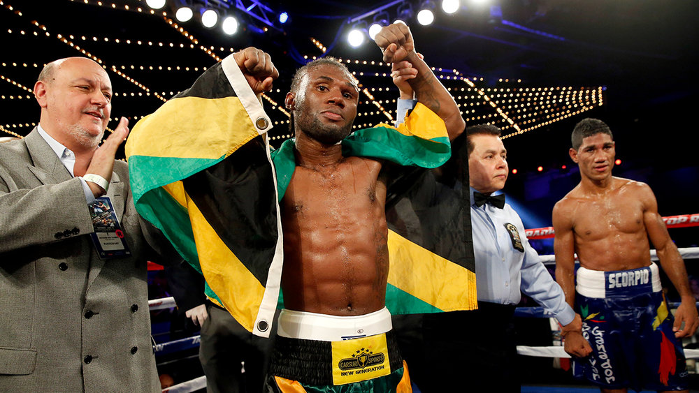 Nicholas Walters celebrates after his after his win against Miguel Marriaga in June of 2015. Photo: Will Hart/HBO