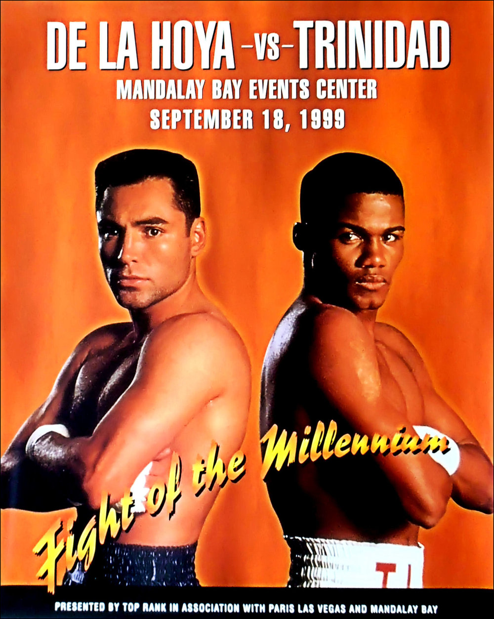 Fight Poster for Oscar De La Hoya vs. Felix Trinidad. Photo: Top Rank