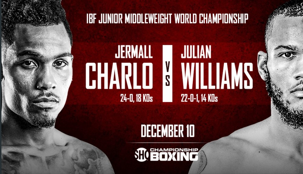 Jermall Charlo vs. Julian Williams will take place on December 10th. Photo: Showtime Sports
