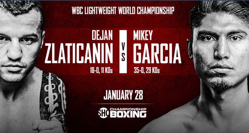 Dejan Zlaticanin vs. Mikey Garcia will take place on January 28th. Photo: Showtime Sports
