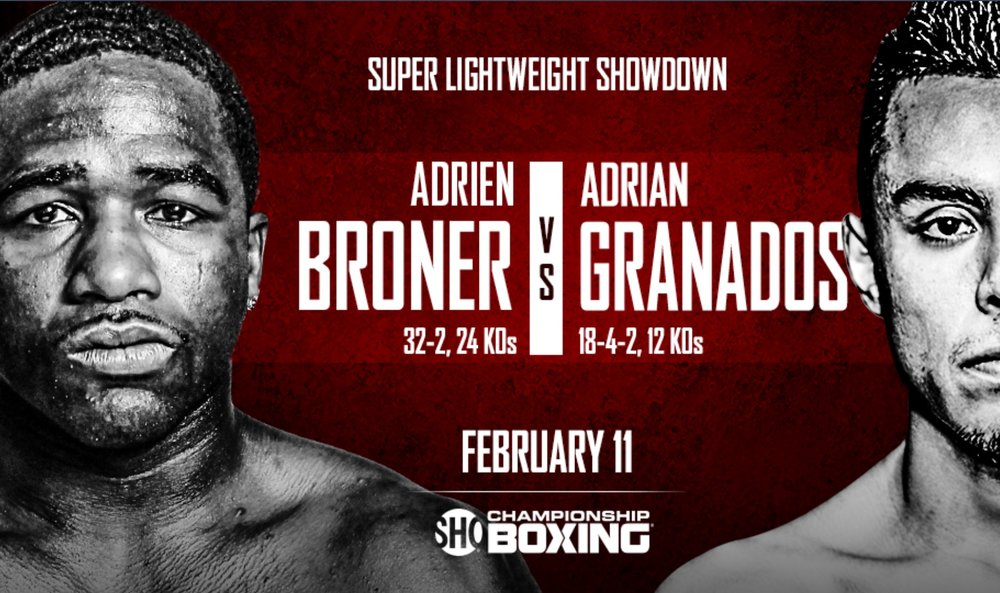 Adrien Broner vs. Adrian Granados will take place on February 11th. Photo: Showtime Sports