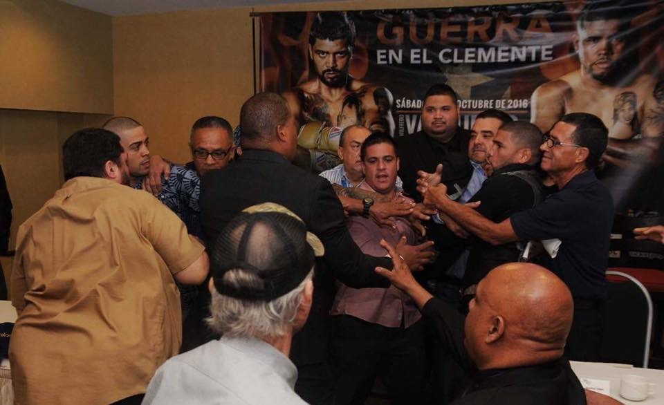 A fight almost broke out at the press conference for Vazquez-Lopez. Photo: Peter Amador/Decision Dividida