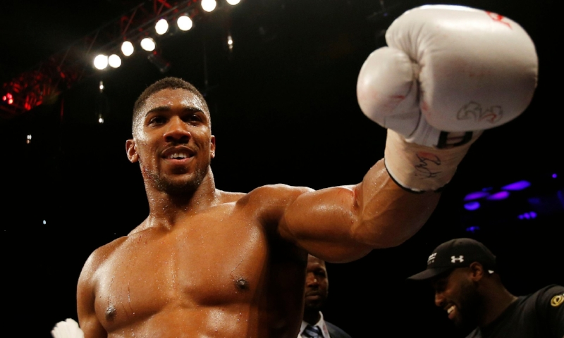 Anthony Joshua is ready to take on Eric Molina in Manchester and hopes to set up a big bout with Wilder in 2017. Photo:Photograph: Andrew Couldridge/Reuters