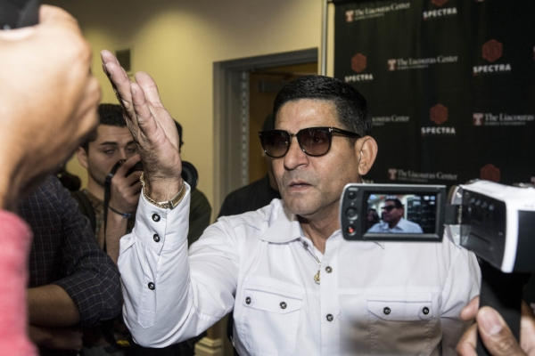 Outspoken Angel Garcia talks to media. Photo Credit: Darryl Cobb/King's Promotions/Premier Boxing Champions