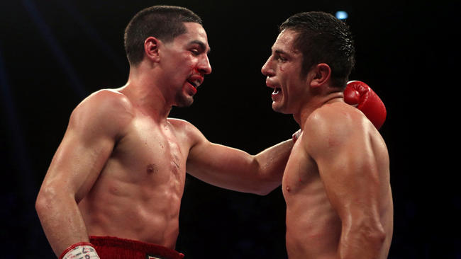 Danny Garcia and Mauricio Herrera after their March 2014 fight. Photo: Ricardo Arduengo/AP