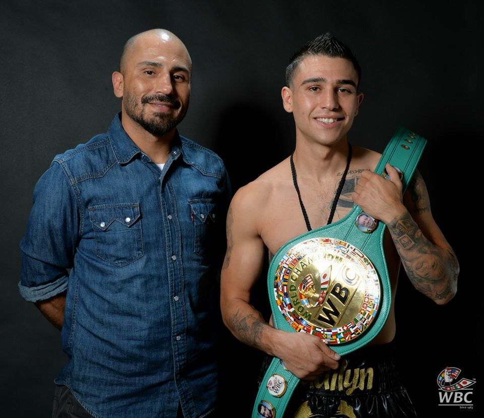 Cesar Garcia and Roy Tapia, who is promoted by Golden Boy Promotions. Photo: World Boxing Council