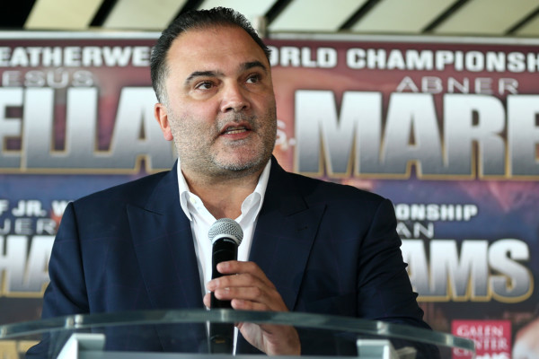 Richard Schaefer at the press conference for his first show back in boxing featuring Abner Mares and Jermall Charlo. Photo: Dave Mandel/Showtime
