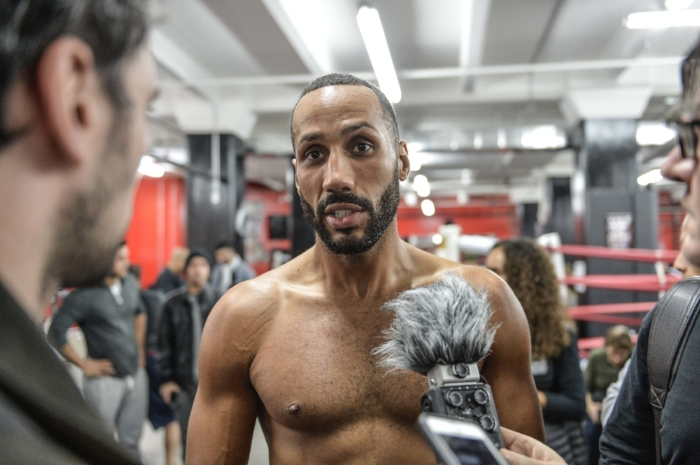 James DeGale gives his thoughts on his opponent Badou Jack. Photo Credit:  Idris Erba/Mayweather Promotions