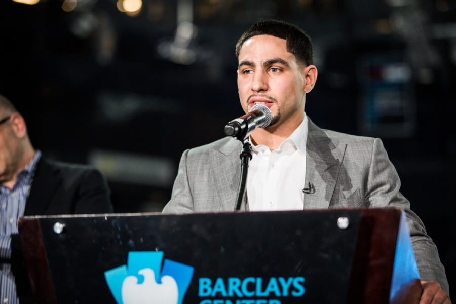 Danny Garcia talks about the fight against Keith Thurman. Photo Credit: Amanda Westcott/SHOWTIME
