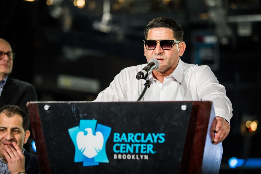 Always outspoken, Angel Garcia was in rare form at the press conference. Photo Credit: Amanda Westcott/SHOWTIME