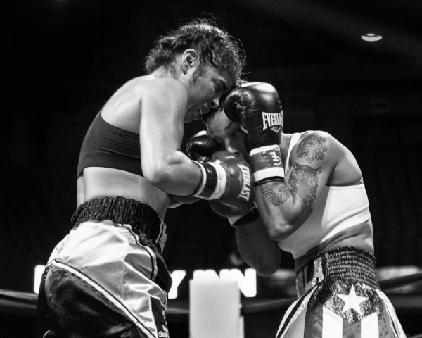 McCaskill and Torres trade in an all action fight. Photo Credit: Steven Weinberg/Frontproofmedia