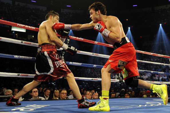 Chavez Jr. in his last fight at 160 pounds against Sergio Martinez in September 2012. Photo: Jeff Bottari/Getty Images