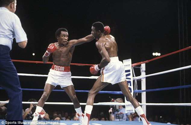 Sugar Ray Leonard and Thomas Hearns met on September 16, 1981. Leonard was the WBC welterweight champion and Hearns was the WBA welterweight champion. Photo: Sports Illustrated/Getty Images