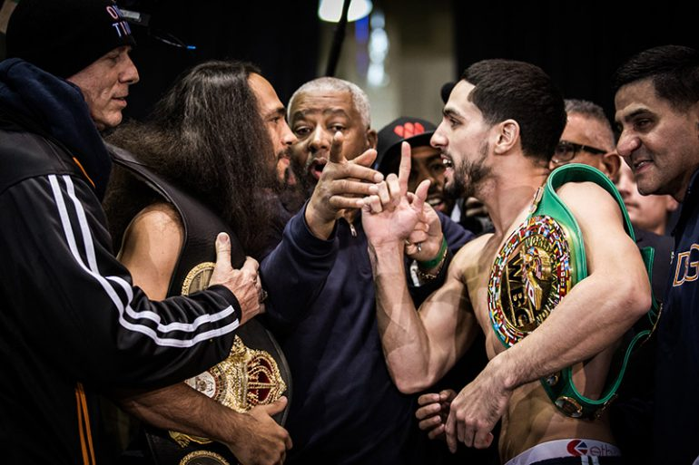 Keith Thurman won a split decision to capture the WBA and WBC welterweight titles. Photo: Amanda Westcott/Showtime