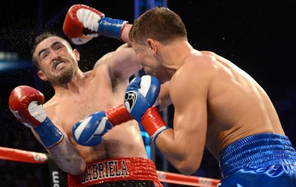 Gennady Golovkin stops Marco Antonio Rubio in the second round. Photo: Naoki Fukuda