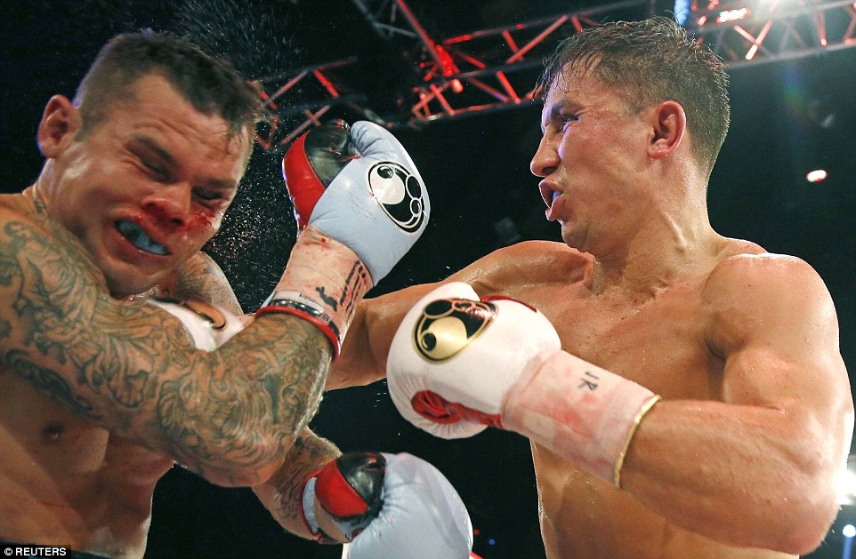 Gennady Golovkin stopped Martin Murray in the eleventh round in 2015. Photo: Reuters