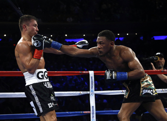 Gennady Golovkin won a close unanimous decision victory over Daniel Jacobs last Saturday. Photo: Noah K. Murray/USA TODAY Sports