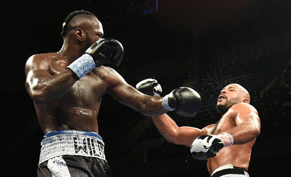 Deontay stopped Gerald Washington in the fifth round last February. Photo: Joe Songer