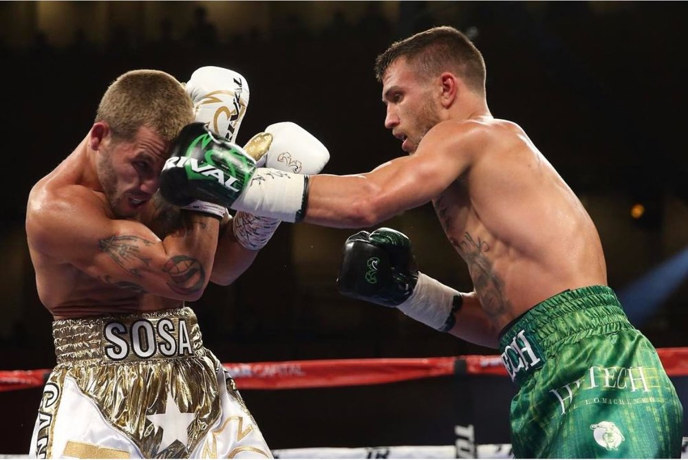 Vasyl Lomachenko dominated Jason Sosa from the beginning to the end at the MGM National Harbor in Oxon Hill, Maryland. Photo: HBO Sports