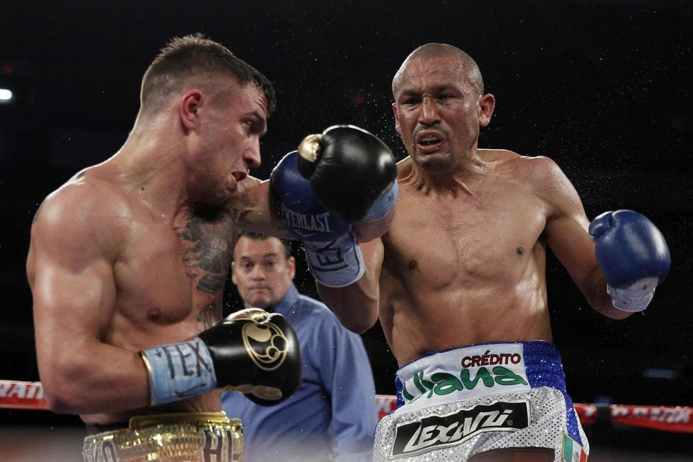 Orlando Salido won a split decision victory over Vasyl Lomachenko in March 2014. Photo: Soobum Im/USA TODAY Sports