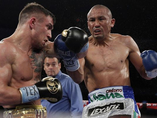 Orlando Salido won a close split decision over Vasyl Lomachenko in March 2014. Photo: Soobum Im/USA TODAY Sports