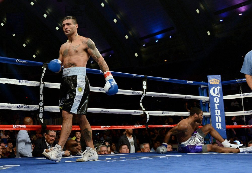 Lucas Matthysse stopped Lamont Peterson in three rounds in 2013. Photo: Naoki Fukuda