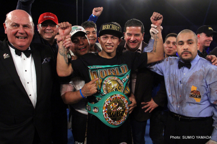 "Miguel Berchelt will battle former world champion Takashi Miura in a fight which could end up being a ""FOY"" candidate on July 15. Photo Credit: Sumio Yamada"