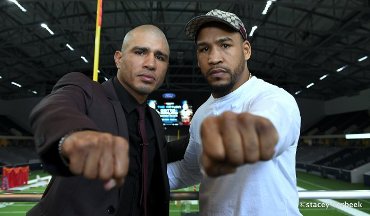 Miguel Cotto and James Kirkland were set to meet this February before the fight was canceled due to an injury Kirkland sustained in training camp. Photo: Stacey Verbeek