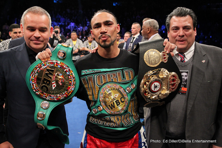 Unified welterweight champion Keith Thurman will be out 4-6 months after elbow surgery. Photo Credit Ed Diller / Dibella Entertainment