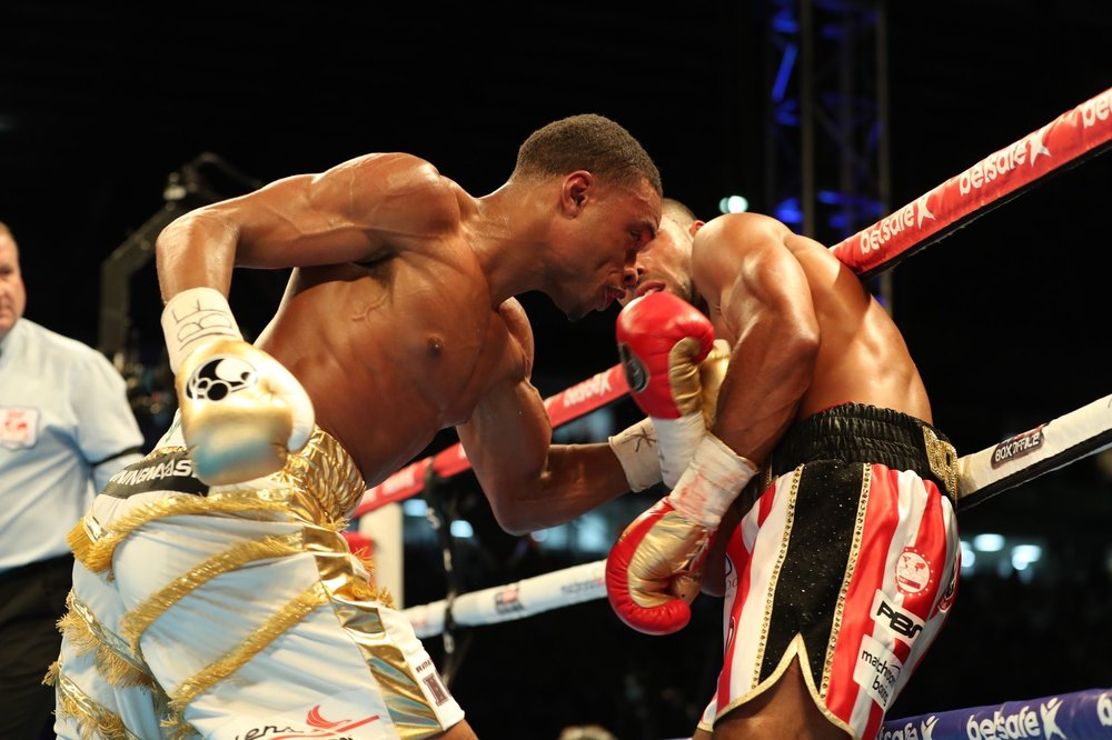 Errol Spence went to the body consistently against Kell Brook. Photo: Showtime Boxing