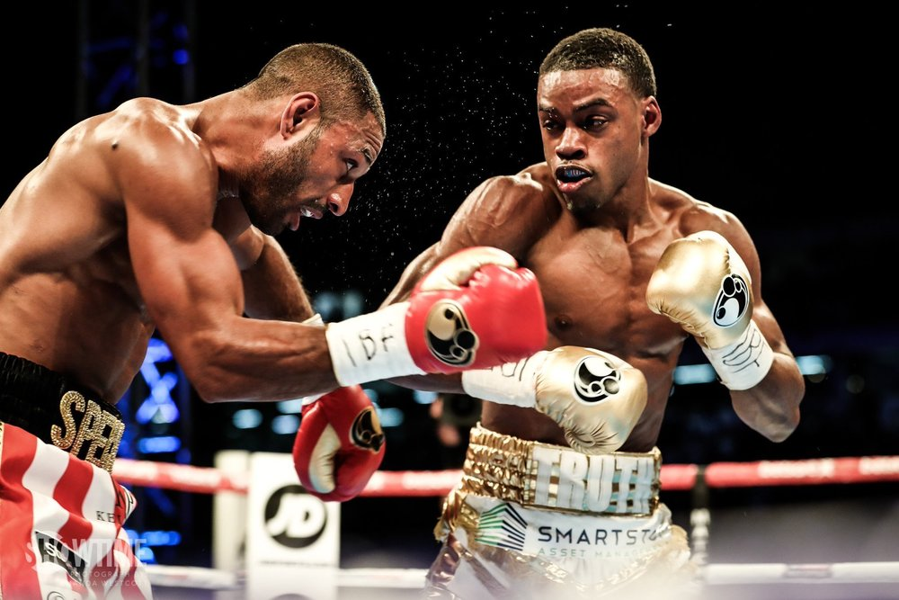 Errol Spence won the IBF welterweight championship by defeating Kell Brook this past weekend. Photo: Amanda Westcott/Showtime Boxing