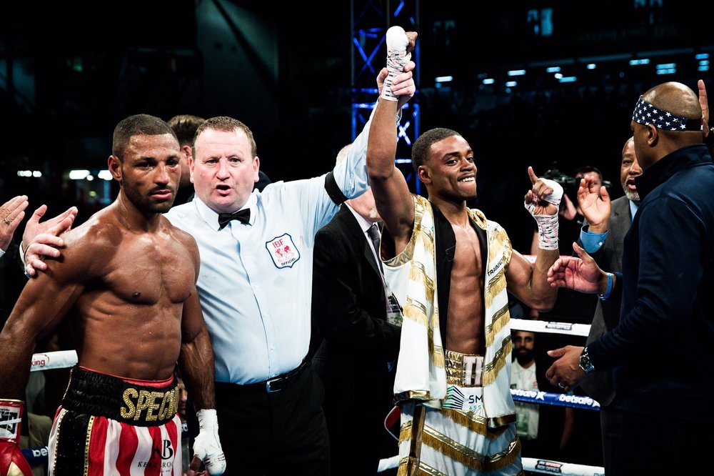 Kell Brook lost his IBF welterweight championship to Errol Spence via 11th round stoppage. Photo: Amanda Westcott/Showtime Sports