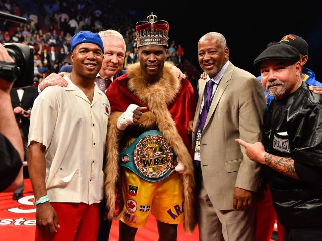 Adonis Stevenson after his victory over Andrezj Fonfara last weekend. Photo: Minas Panagiotakis/Getty Images