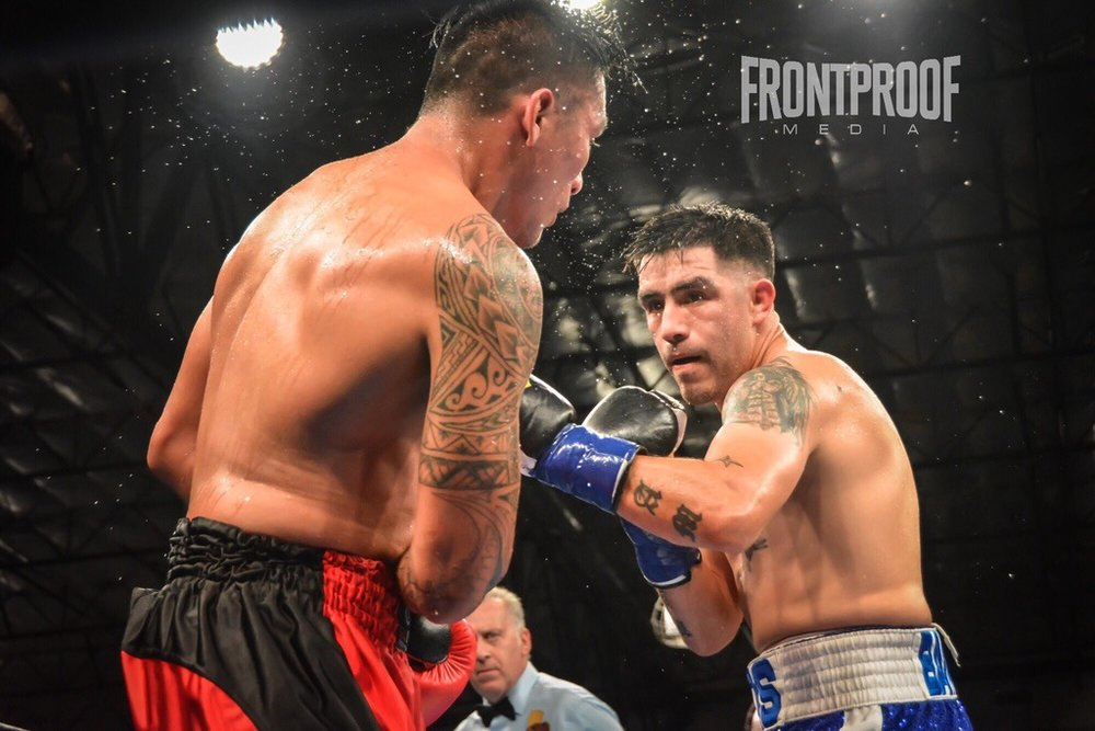 Brandon Rios stops his opponent Aaron Herrera in seven rounds in Lancaster, CA. Photo Credit: Cynthia Saldaña / Frontproof Media