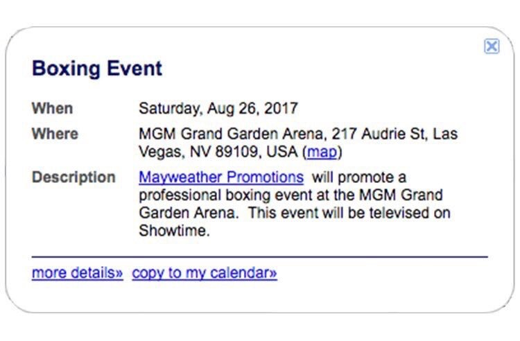 The Nevada State Athletic Commission's website has the date of August 26th booked for an event involving Mayweather Promotions.