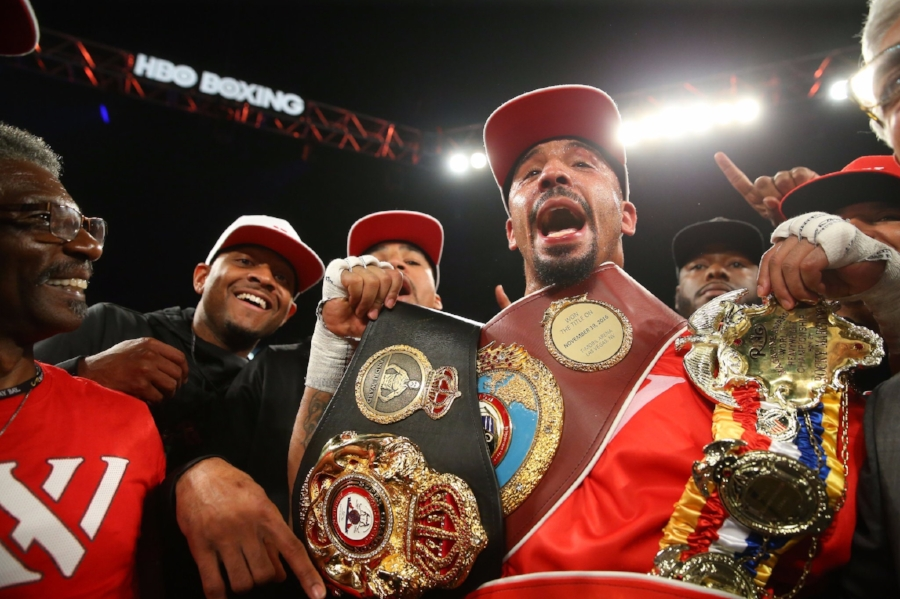 Andre Ward stops Sergey Kovalev in the 8th round of their rematch and sparks controversy. Photo Credit: HBO Boxing