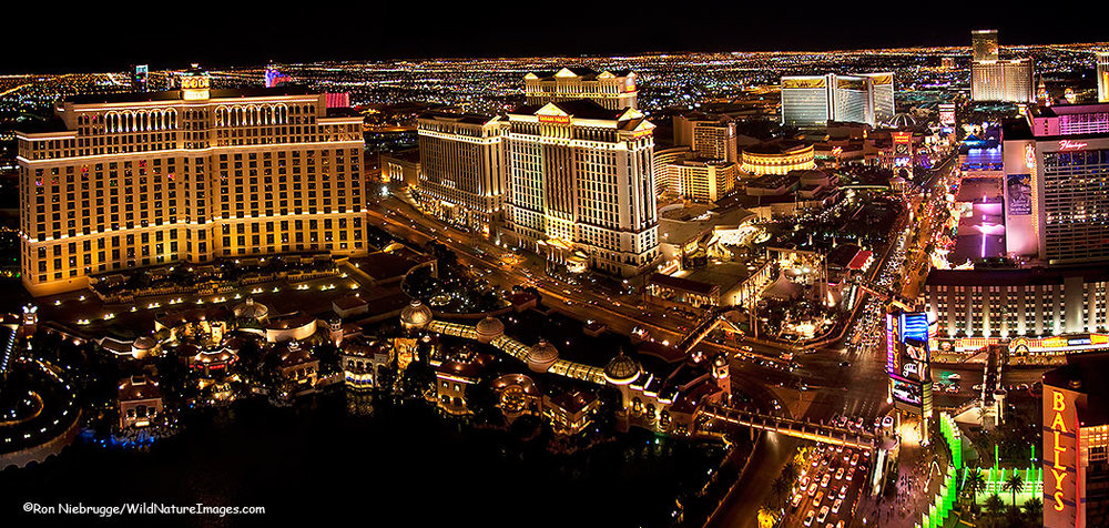 The Las Vegas Strip at night. Photo: Ron Niebrugge/Wild Nature Images